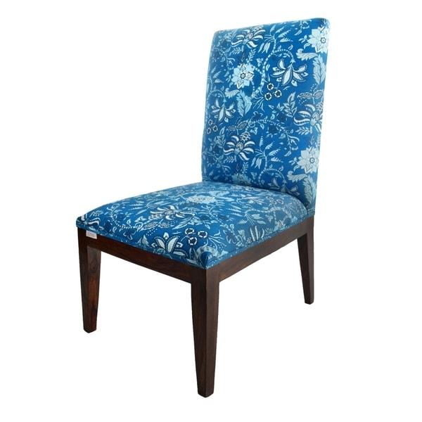 Blue Palampore Slipper Chair