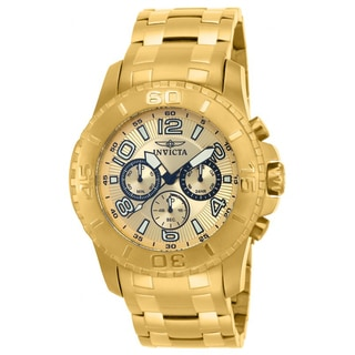 Invicta Men's 15022 Pro Diver Goldtone Stainless Steel Chronograph Watch