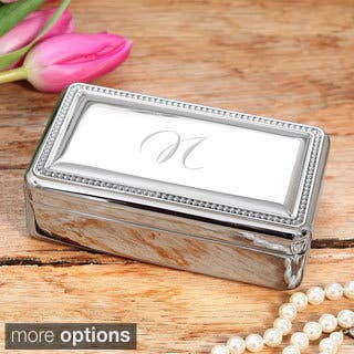 Personalized Beaded Silver Jewelry Box https://ak1.ostkcdn.com/images/products/8902782/P16122228.jpg?impolicy=medium