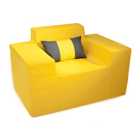 Softblock Sunshine Yellow Memory Foam Outdoor Chair with Pillow