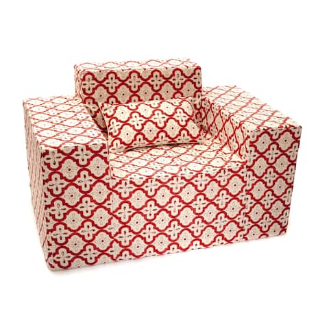 Softblock Morroccan Berry Memory Foam Chair and Pillow