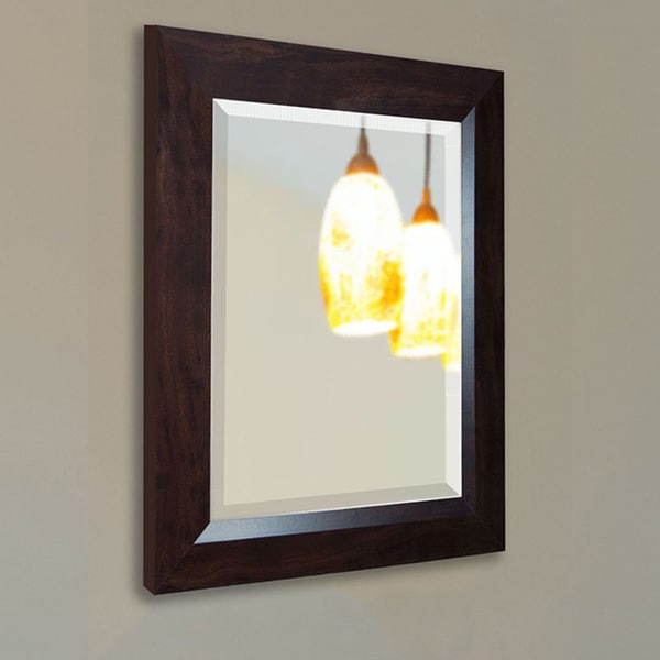 American Made Rayne Dark Walnut Wall/ Vanity Mirror