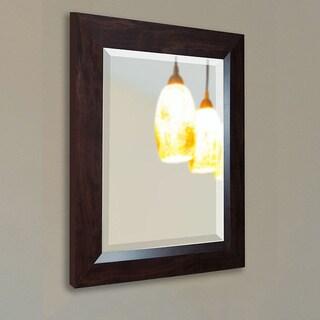 American Made Rayne Dark Walnut Wall Mirror