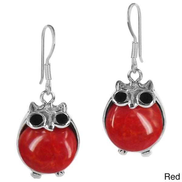 Chubby Night Owls Stone .925 Silver Earrings (Thailand)