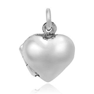 Handmade Sweet Love Small Heart Locket Sterling Silver Pendant (Thailand)