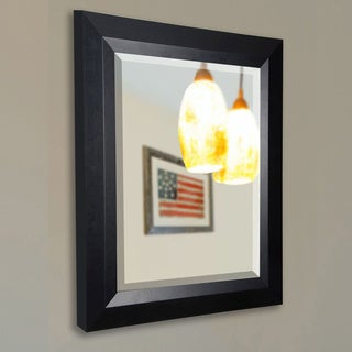 American Made Rayne Black Angle Wall/ Vanity Mirror