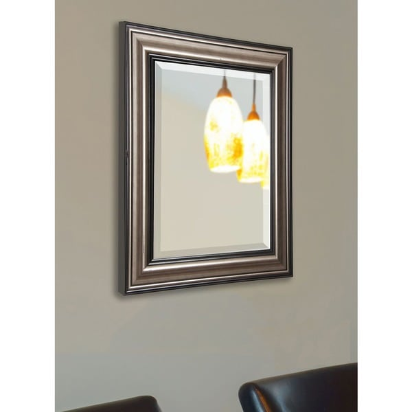 American Made Rayne Antique Silver and Black Wall/ Vanity Mirror