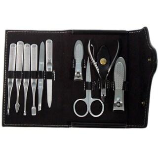 Black Purse Button Stylish High Quality Bag Kit 10-piece Manicure Set