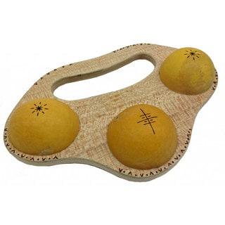 Handmade 3 Gourd ViVi Shaker (Ghana)
