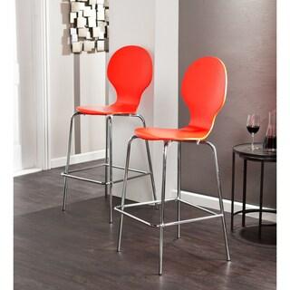 Holly & Martin Conbie Red-Orange Barstools (Set of 2)