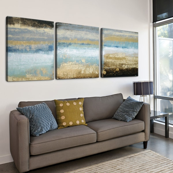'Rising Tide' 24x72 Textured Canvas Print Triptych
