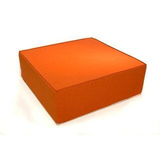 Softblock 44-inch Tuscan Orange Indoor/ Outdoor Ottoman
