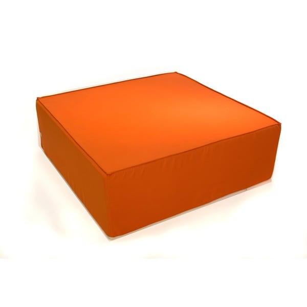 Softblock 44-inch Tuscan Orange Indoor/ Outdoor Ottoman