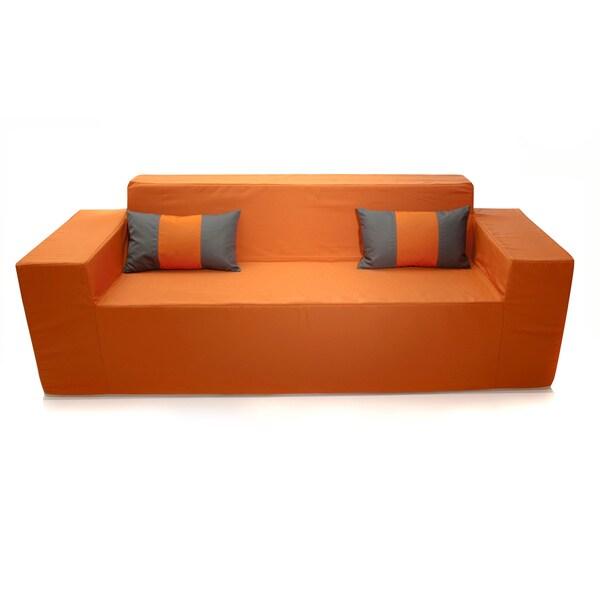 Softblock Tuscan Orange Indoor/ Outdoor Sofa