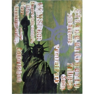 Ren Wil Giovanni Russo 'First Amendment' Hand-painted Canvas Art