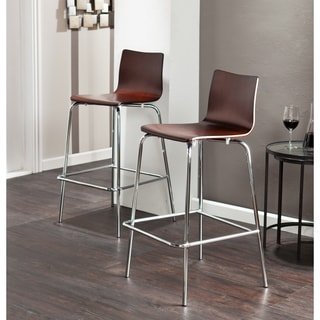 Holly & Martin Blence Espresso Barstools (Set of 2)