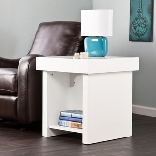 Holly & Martin Glidick White Slide-Top End Table