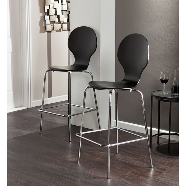 Shop Holly Amp Martin Conbie Black Barstools Set Of 2 On