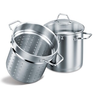 Korkmaz Provita Stainless Steel Capsulated Spaghetti Pot Steamer (Set of 2)