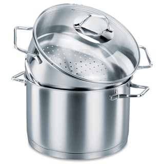 Korkmaz Provita Stainless Steel 5 Quart Capsulated Steamer and Pot