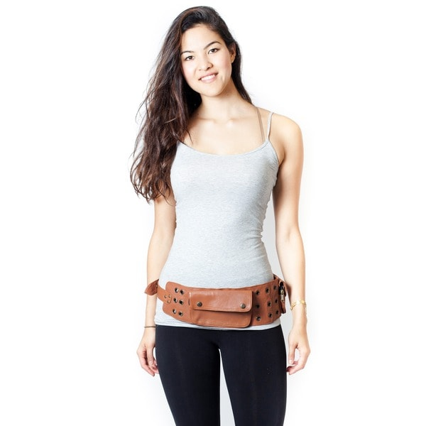 Genuine Leather Camel Travel Utility Belt (India)