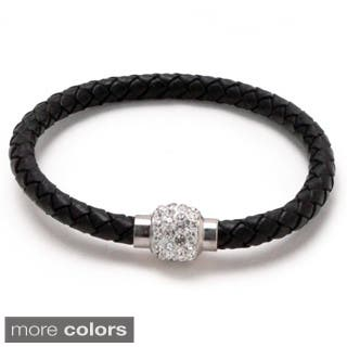 Unisex Braided Leather Magnetic Cuff Bracelet|https://ak1.ostkcdn.com/images/products/8904234/Unisex-Braided-Leather-Magnetic-Cuff-Bracelet-P16123548.jpg?impolicy=medium