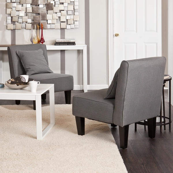 Holly U0026amp; Martin Purban Cool Gray Slipper Chairs (Set ...