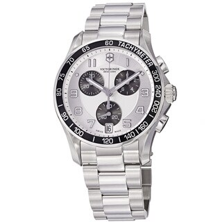 Swiss Army Men's 241495 'Chrono Classic' Silver Dial Stainless Steel Automatic Watch