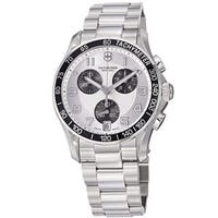 Swiss Army Men's  'Chrono Classic' Silver Dial Stainless Steel Automatic Watch