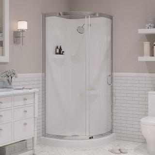 OVE Decors Breeze 34-inch Round Corner Shower Enclosure