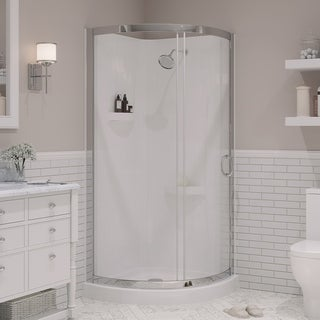 OVE Decors Breeze 34-inch Round Corner Shower Enclosure