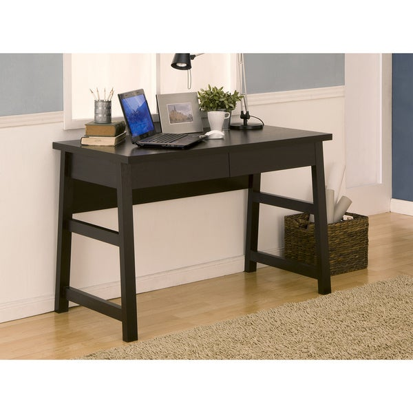 shop prentiss 2 drawer contemporary writing desk on sale free shipping today overstock. Black Bedroom Furniture Sets. Home Design Ideas