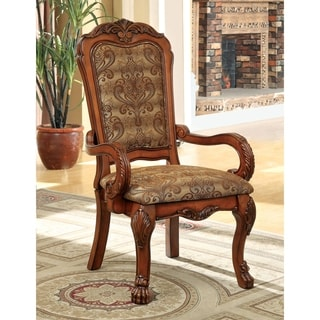 Furniture of America Elantia Antique Oak Arm Chairs (Set of 2)