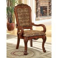 """Furniture of America Elantia Antique Oak Arm Chairs (Set of 2) - 26""""l x 28""""w x 46 1/2""""h (seat ht: 19 1/2"""", seat dp:"""