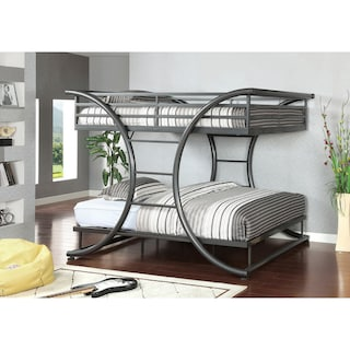 Shop Furniture Of America Armentia Full Over Full Metal Bunk Bed