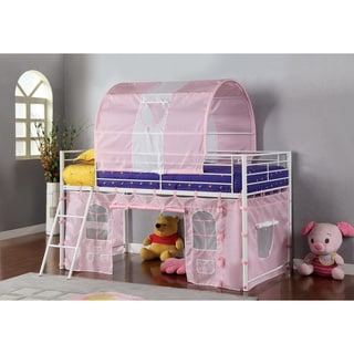 Furniture of America Florenzia Twin Loft Bed with Tent Playhouse