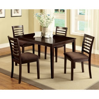 Furniture of America Xupa Urban Espresso Solid Wood 5-piece Dining Set