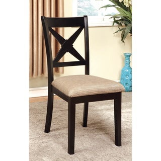 Furniture of America Quet Transitional Black Dining Chairs Set of 2