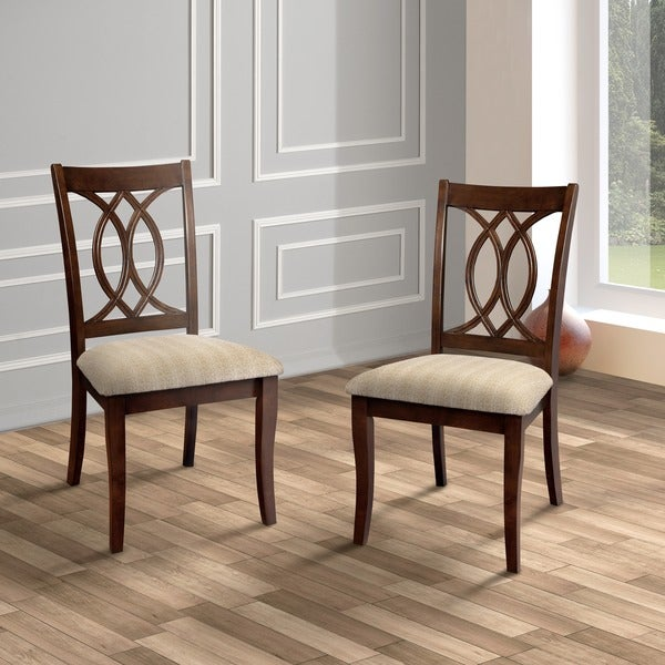 Brown Dining Room Chairs: Furniture Of America Cerille Elegant Brown Cherry Dining