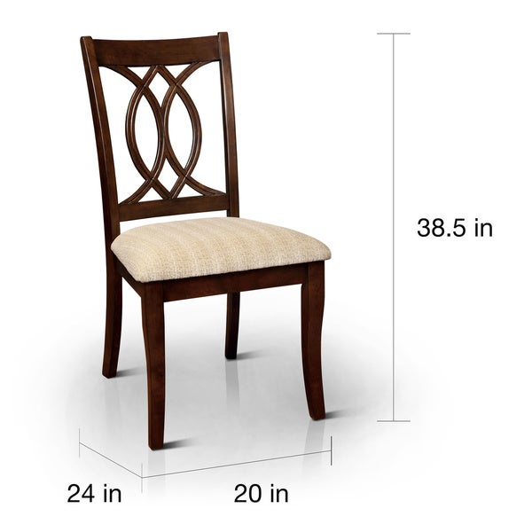 Elegant Furniture Of America Cerille Elegant Brown Cherry Dining Chairs (Set Of 2)    Free Shipping Today   Overstock.com   16123764