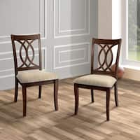 Furniture of America Cerille Elegant Brown Cherry Dining Chairs (Set of 2)