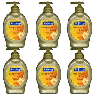 Softsoap Milk Protein and Honey Moisturizing 7.5-ounce Hand Soap (Pack of 6)
