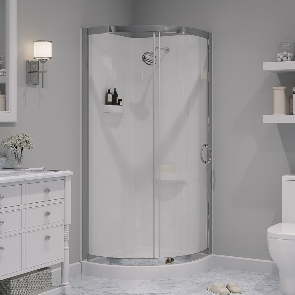 OVE Decors Breeze 31-inch Glass and Acrylic Shower Enclos...