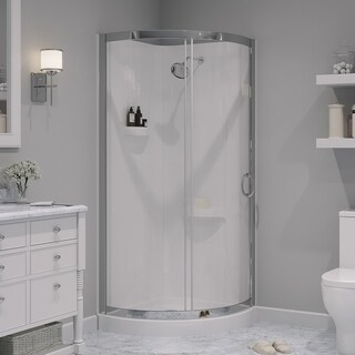 OVE Decors Breeze 31-inch Glass and Acrylic Shower Enclosure