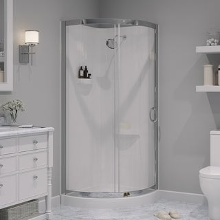OVE Decors Breeze 31 Inch Glass And Acrylic Shower Enclosure