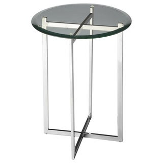 Glass and Steel Accent Table
