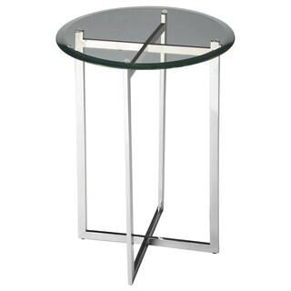 Butler Modern Round Accent Table Nickel - Silver