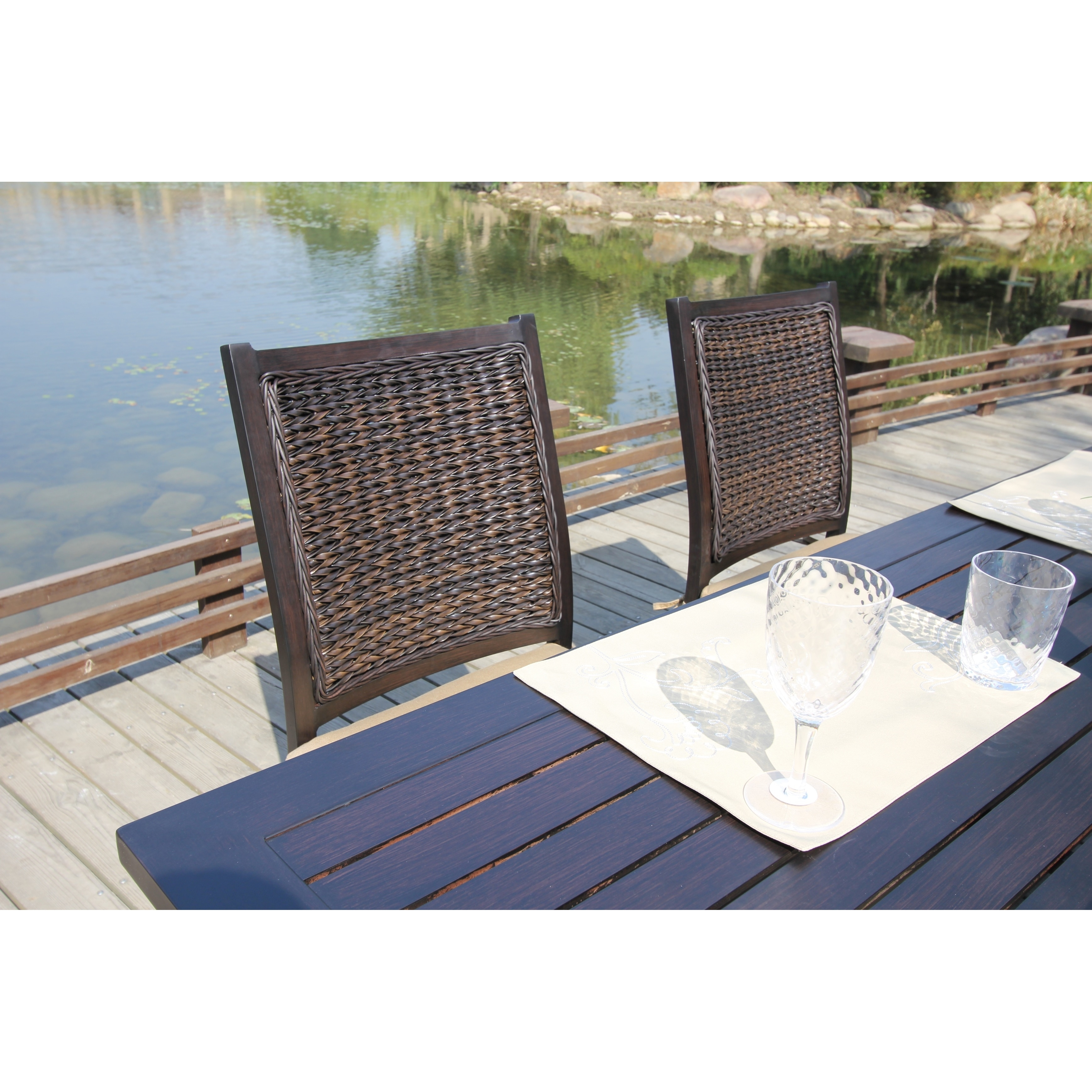 Brookfield 7 Piece Dining Set With Leaf | Tyres2c