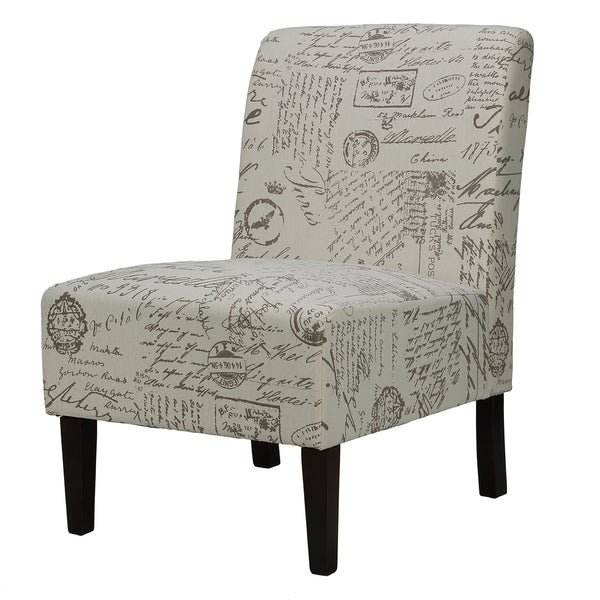 Palm Canyon Hidalgo Script Armless Accent Chair