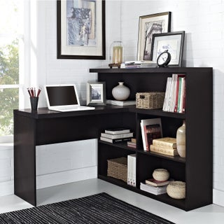 Avenue Greene Ally Point Way Espresso Sit/ Stand L-Shaped Desk